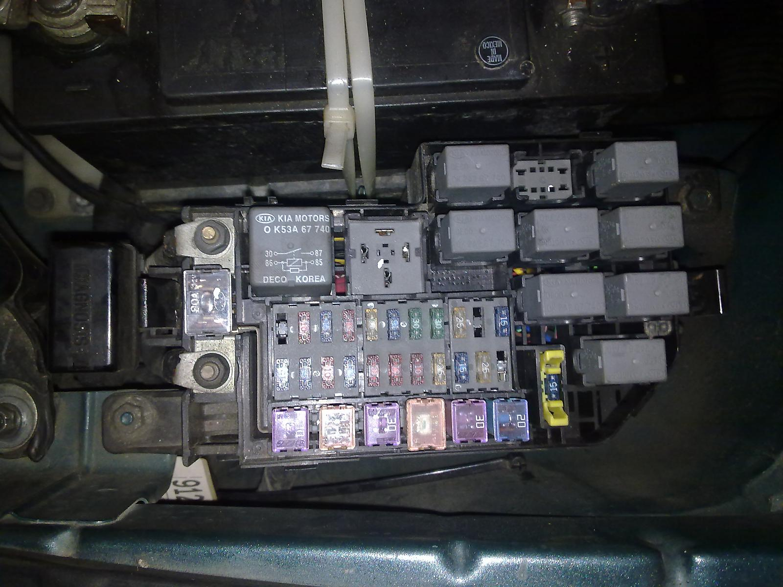 Fuse Box Kia Rio 2004 Reinvent Your Wiring Diagram Audio Going Beserk And Flatened The Battery Page 2 Rh Forums Com Panel Amanti 2012 Soul