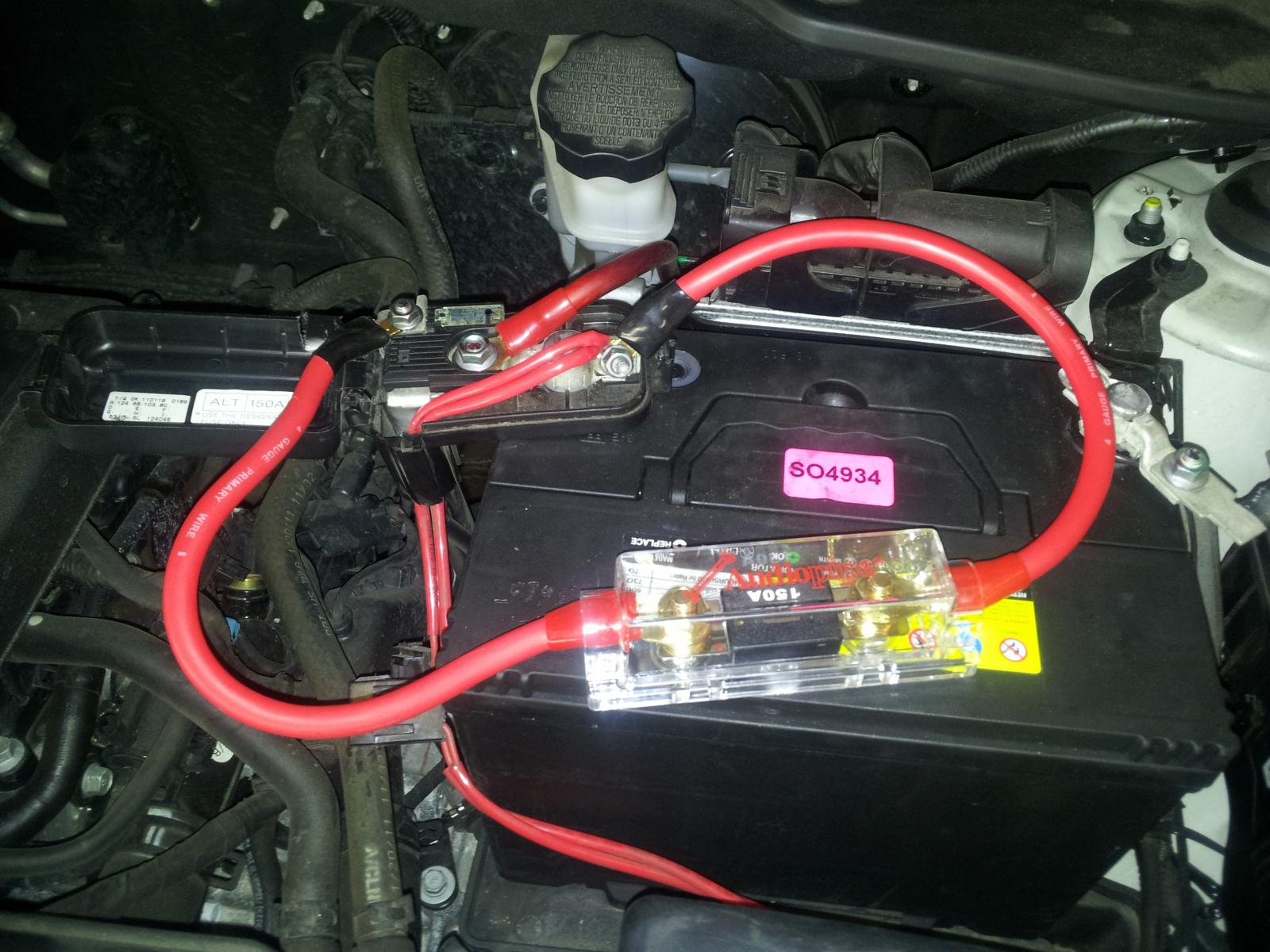 battery positive terminal fuse   150 amp   kia forum 98 mustang gt fuse box