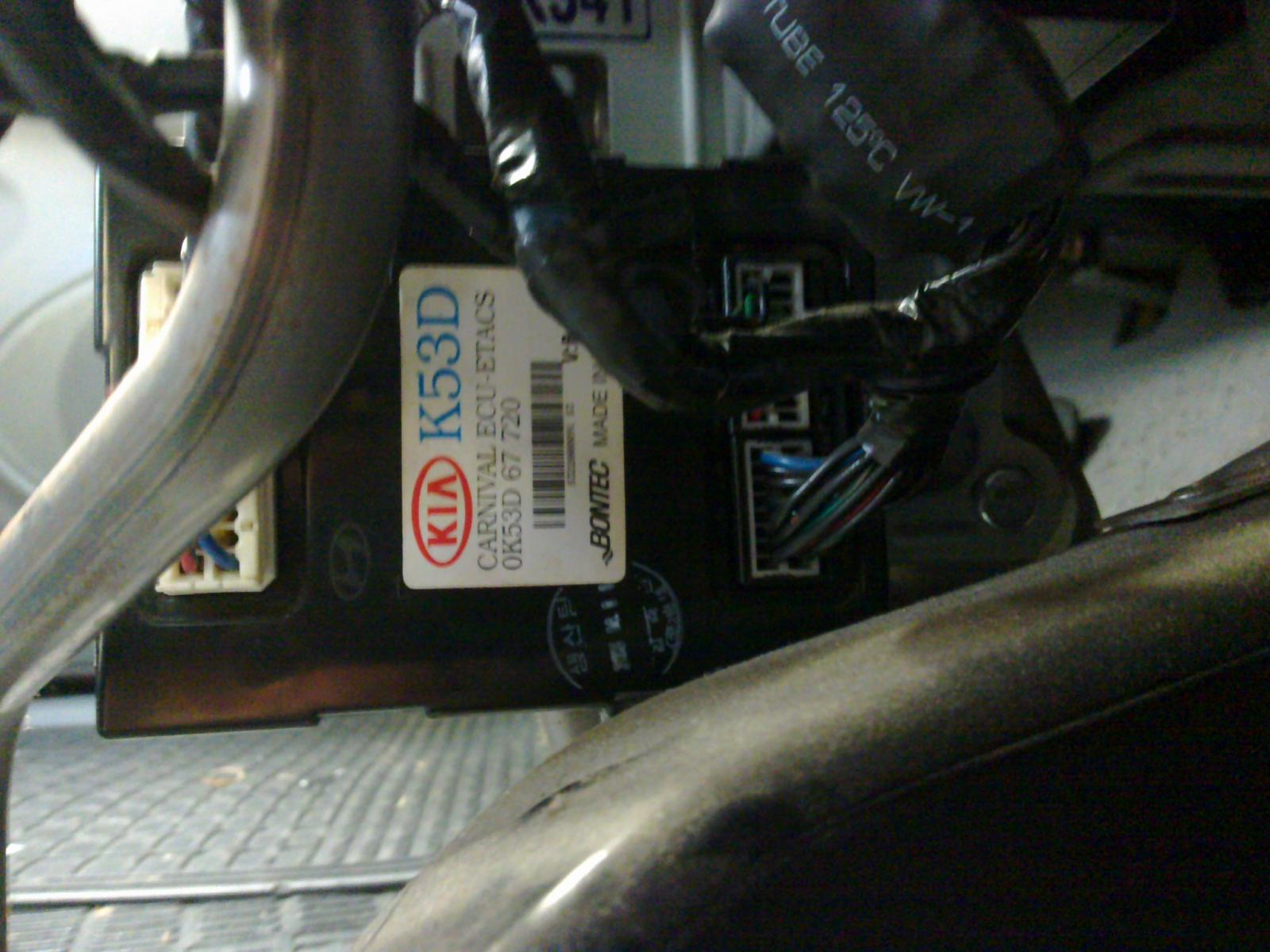 D L Carnival Etacs Failure on Kia Sorento Car Battery Location