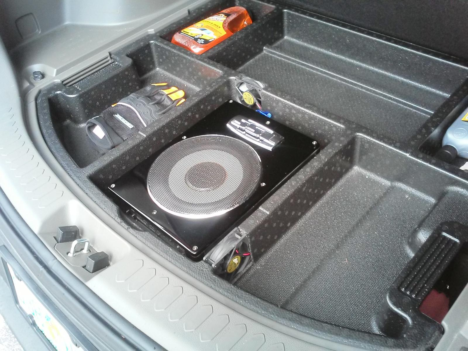 After Market Compact Sub Install In 2011 Sportage Kia Forum