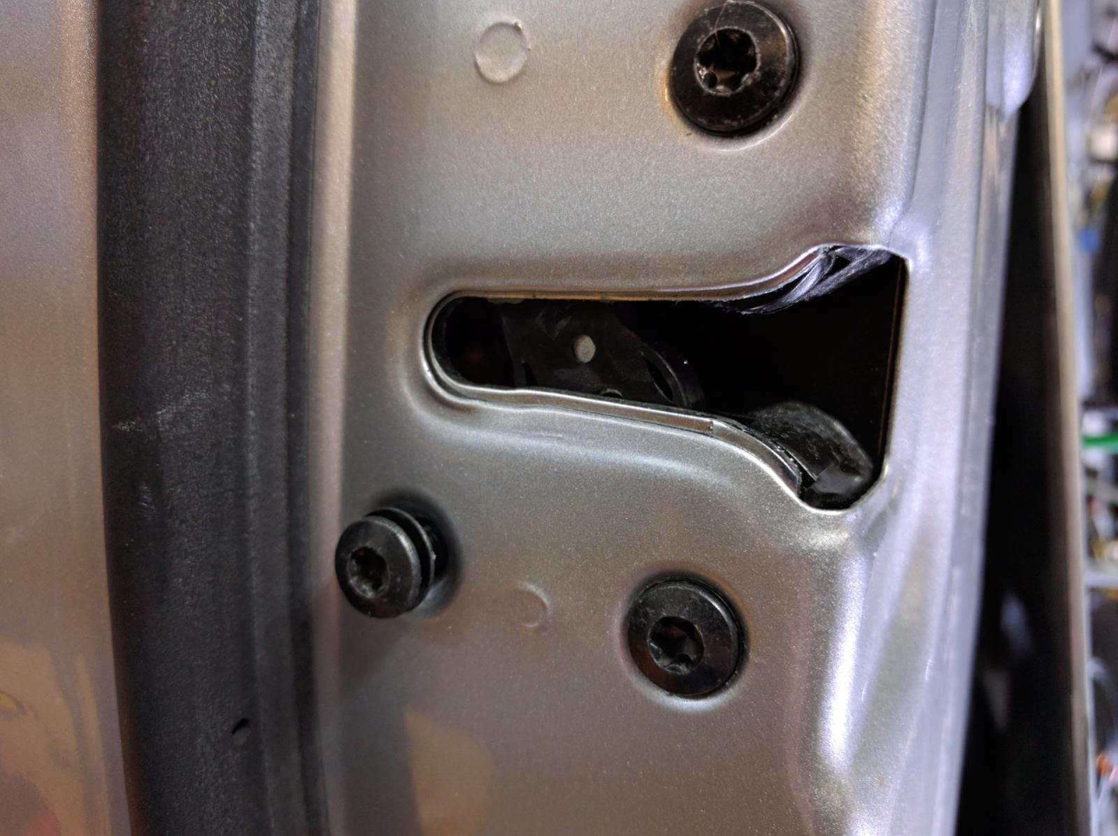 Door won't open from outside. How to replace the door ...