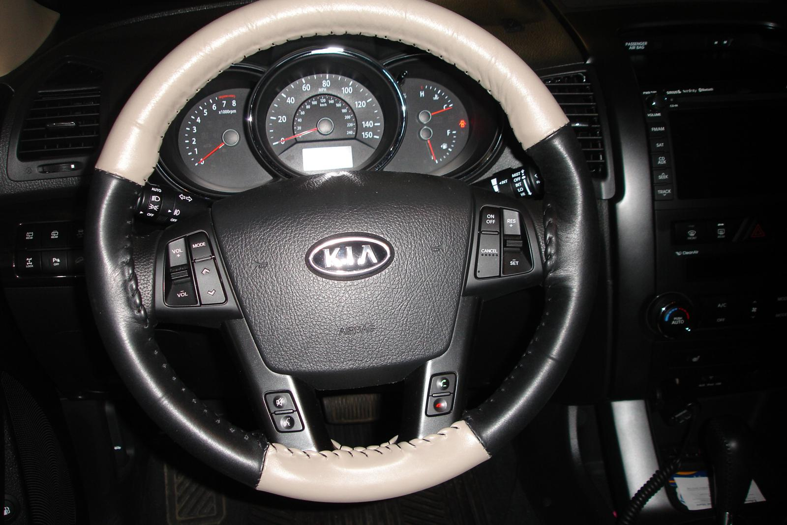 Kia Sorento Sx >> Leather steering wheel cover - Kia Forum