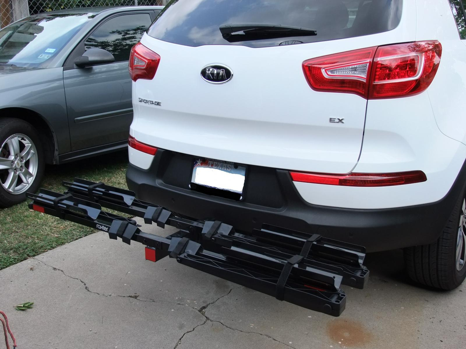 Install Trailer Hitch Kia Sportage 2016 Sorento Hitches Wiring On Soul Tow Location Red With Bike Rack Page 2 Forum