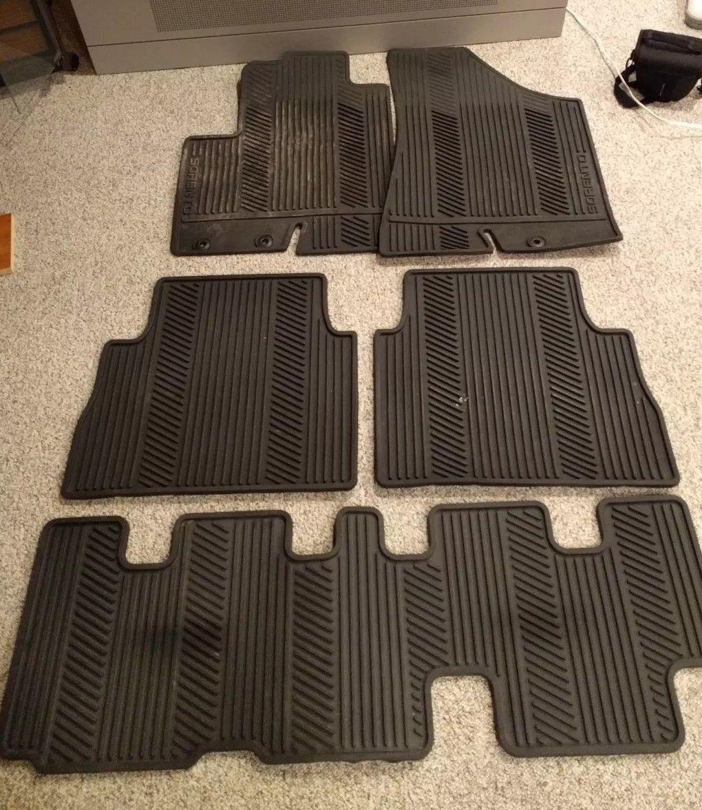 2011 2012 2013 Kia Sorento all weather mats 3 row 5 piece OEM Free shipping-floor-mats.jpg