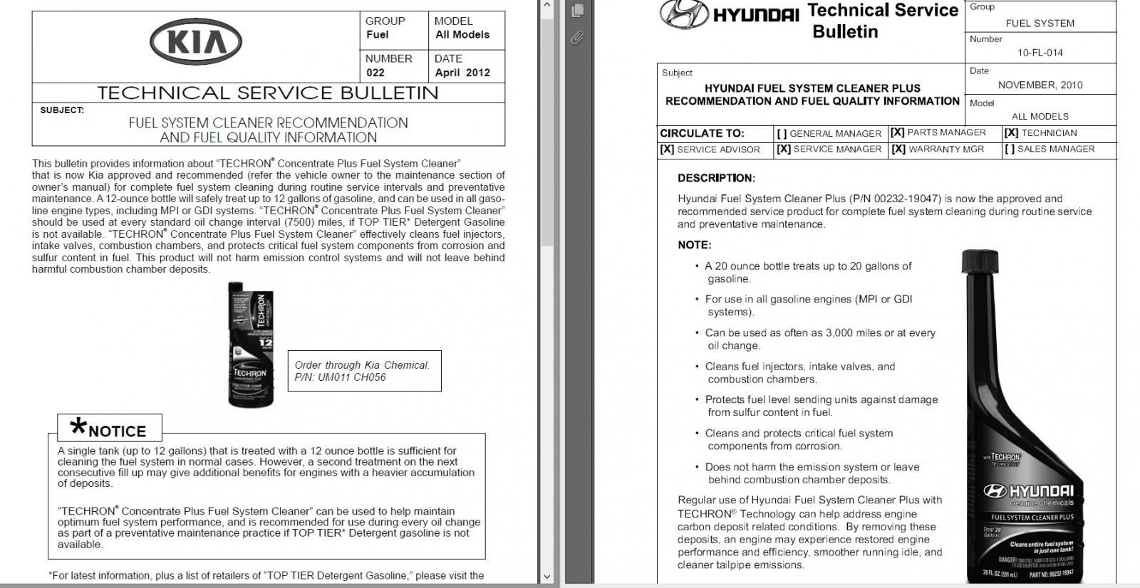 Hyundai Elantra: Fuel Additives
