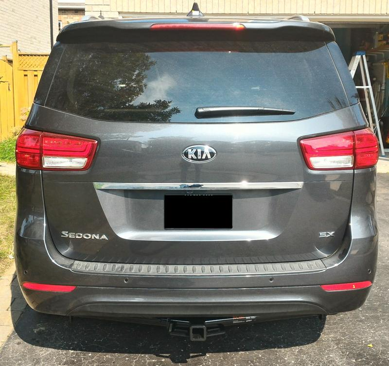 2015 Sedona aftermarket hitch install DIY Kia Forum