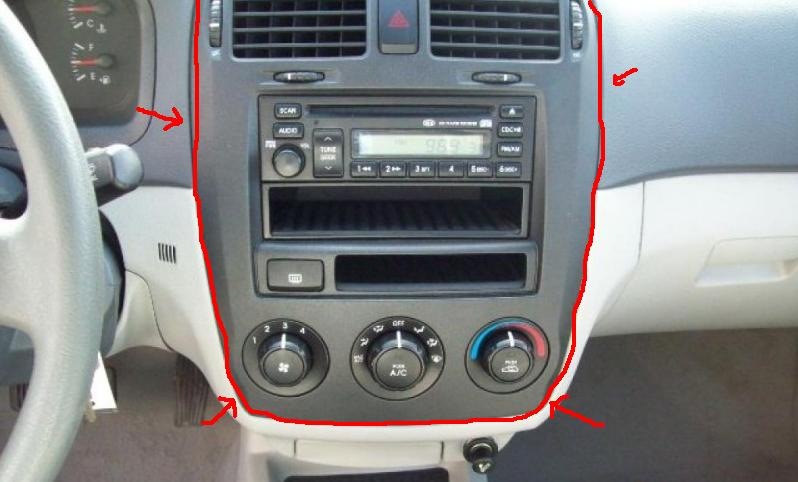 How to remove dash piece for stereo  Kia Forum