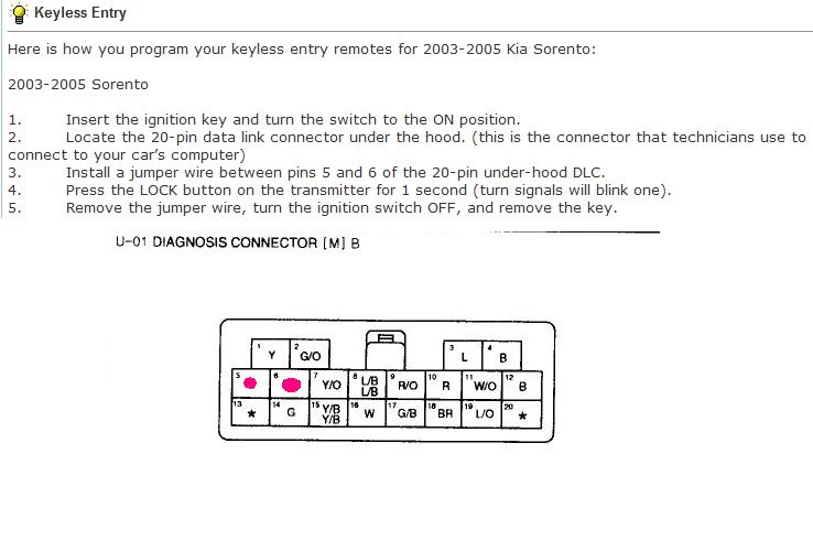 Kia Sportage Central Locking Wiring Diagram : Sorento central locking problems kia forum