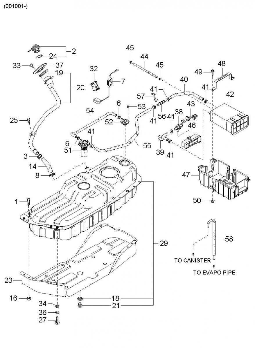 kia sedona fuel system diagram