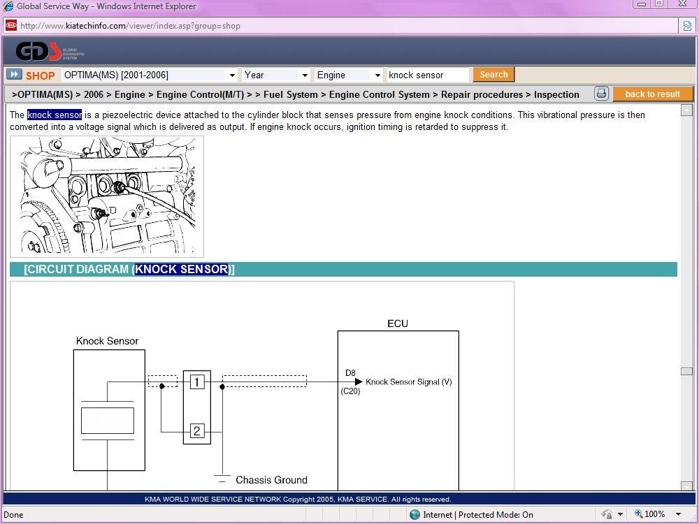 Where Is The Knock Sensor Located On A 2006 V6 Kia Forumrhkiaforums: Knock Sensor Location Kia At Gmaili.net