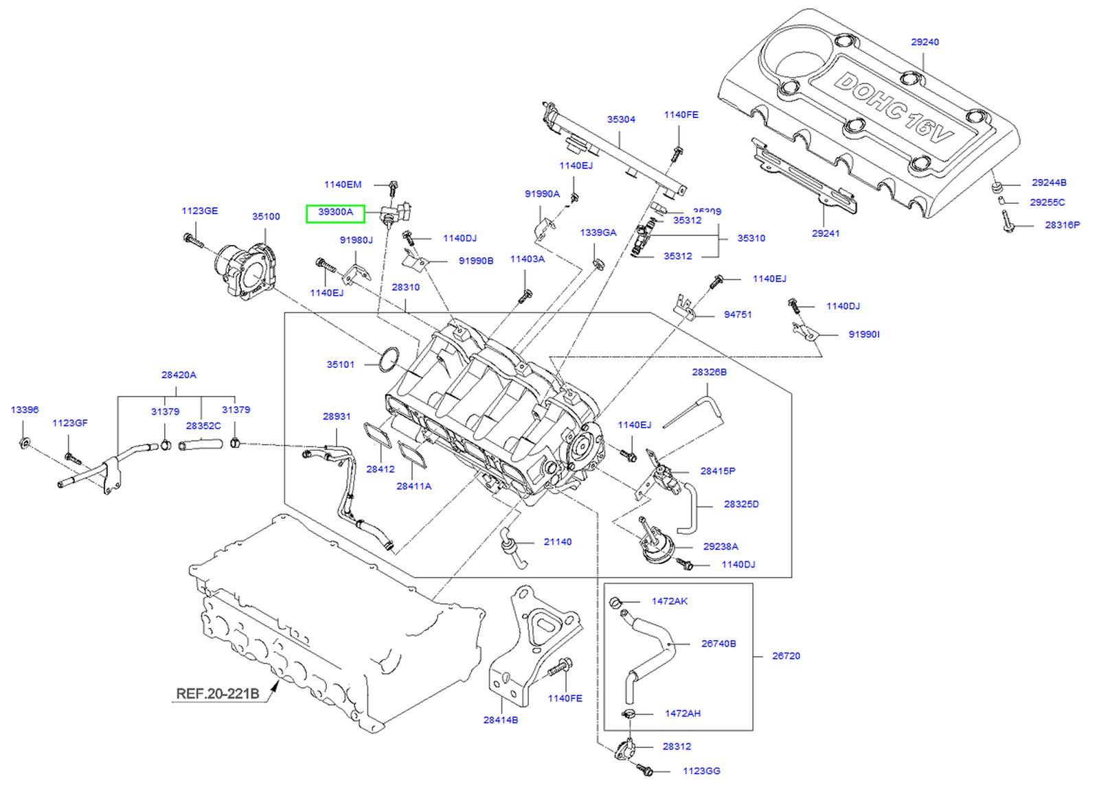 map sensor location 2011 kia sorento 2 4l 4cyl kia forum 2011 Kia Sorento Parts Manual  2011 Kia Sorento V6 Engine Diagram 2011 Kia Sorento LX 2007 Kia Sedona Engine Diagram