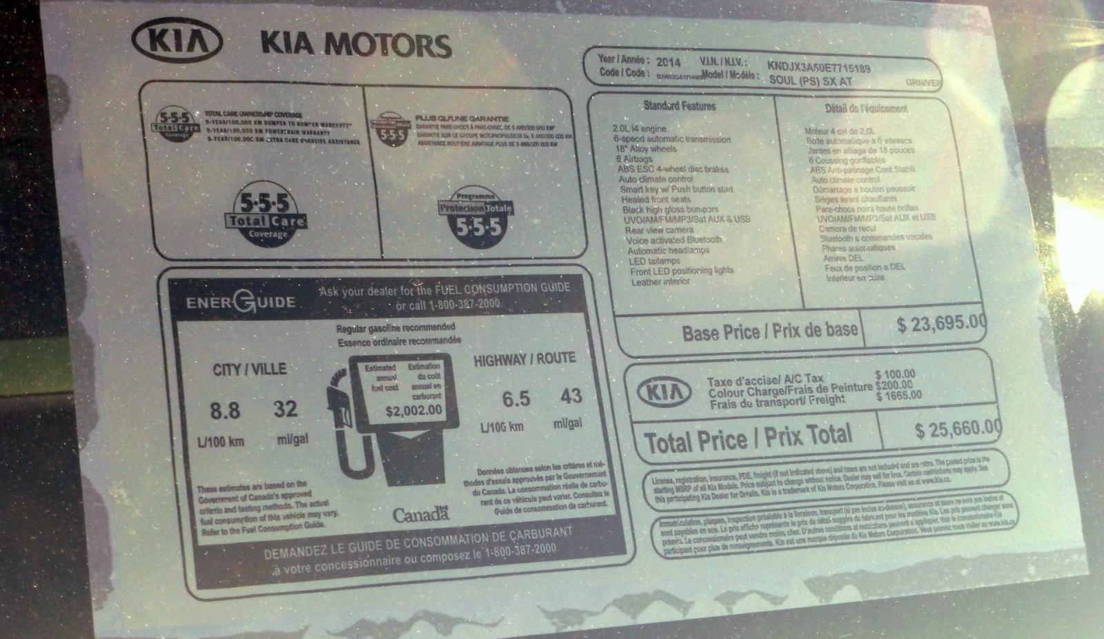 Window Sticker Kia Forum