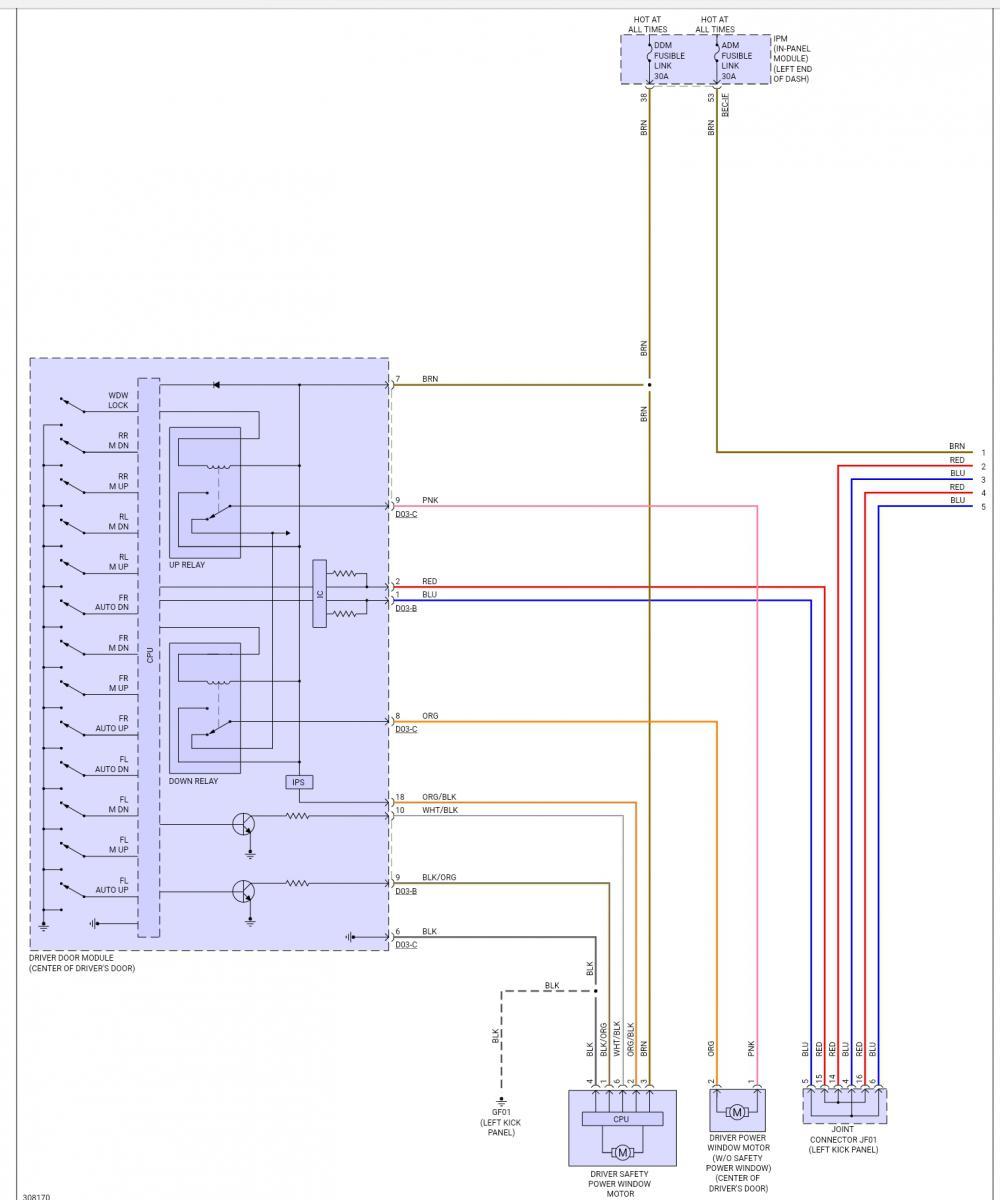 Help Pls - Need Wiring Diagram For Driver Door