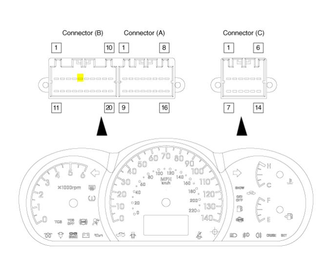2005 kia spectra speedometer wiring diagram