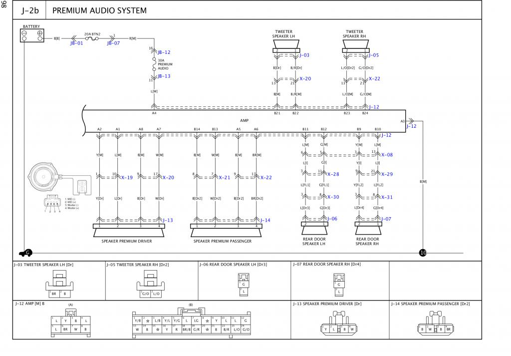 kia sorento 2003-2006 audio amplifier pin-outs | kia forum  kia forum