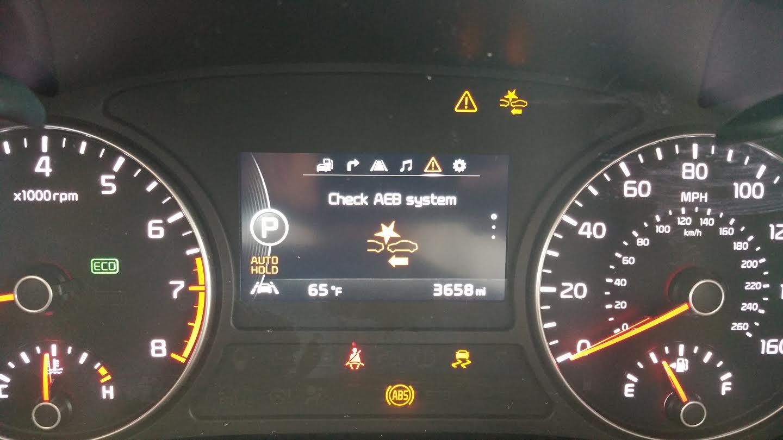 Kia Sportage Indicator Lights >> AEB Warning Light/Auto Hold Disables - Kia Forum