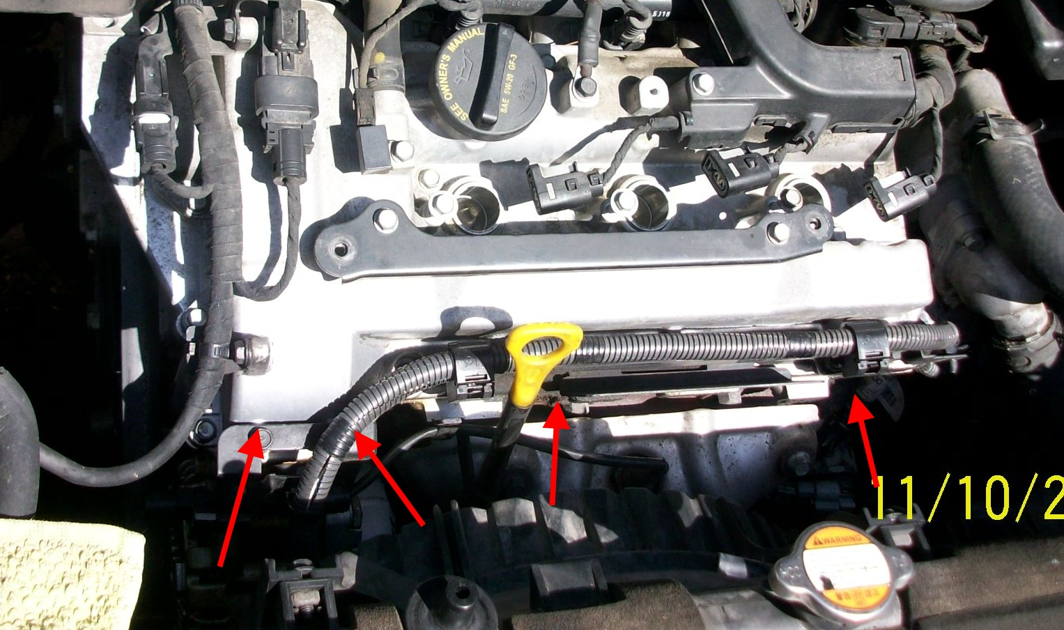 Diy Replacing The Frontleft Valve Cover Gasket Part I Kia Forum Sedona Coolant Reservoir Click Image For Larger Version Name Working1 Views 1834 Size 4142