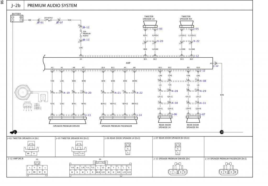 Kia Sorento 2003 2006 Audio Amplifier Pin Outs Kia Forum