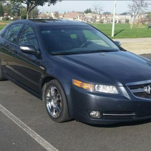 My 2007 Carbon Gray Pearl Acura TL. I will always love this car. I did over 100,000 happy miles in this beautiful and fine performing automobile.